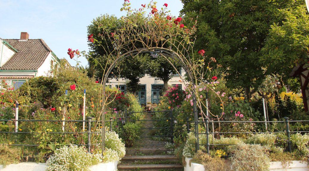 Blick auf Sautters Haus und Garten