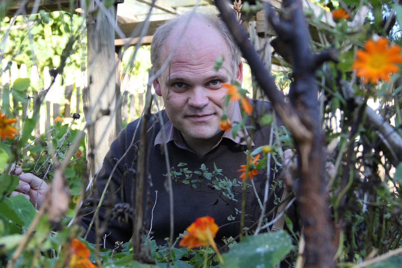 Edouard van Diem im Garten