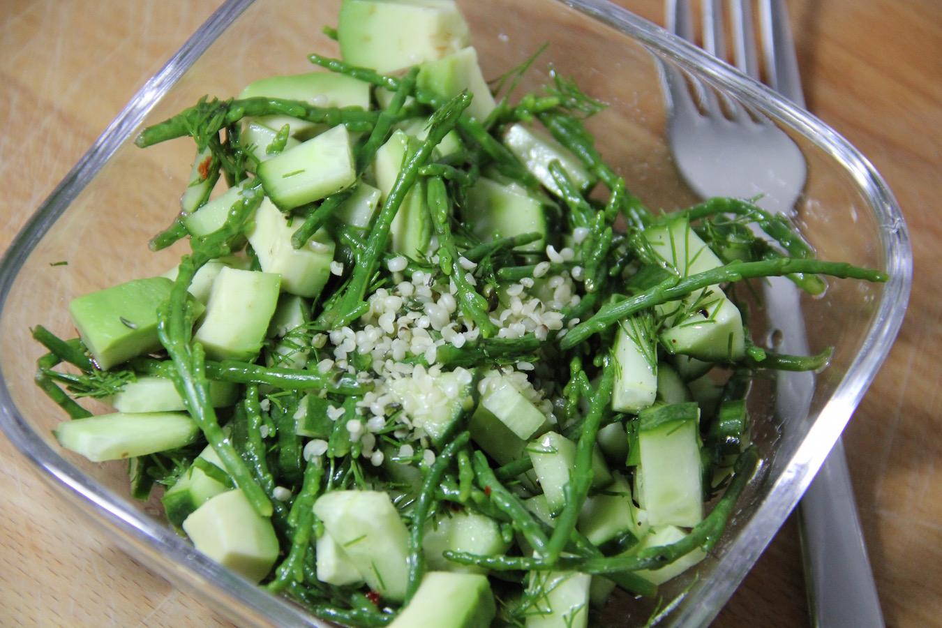 Queller-Gurken-Avocado-Salat