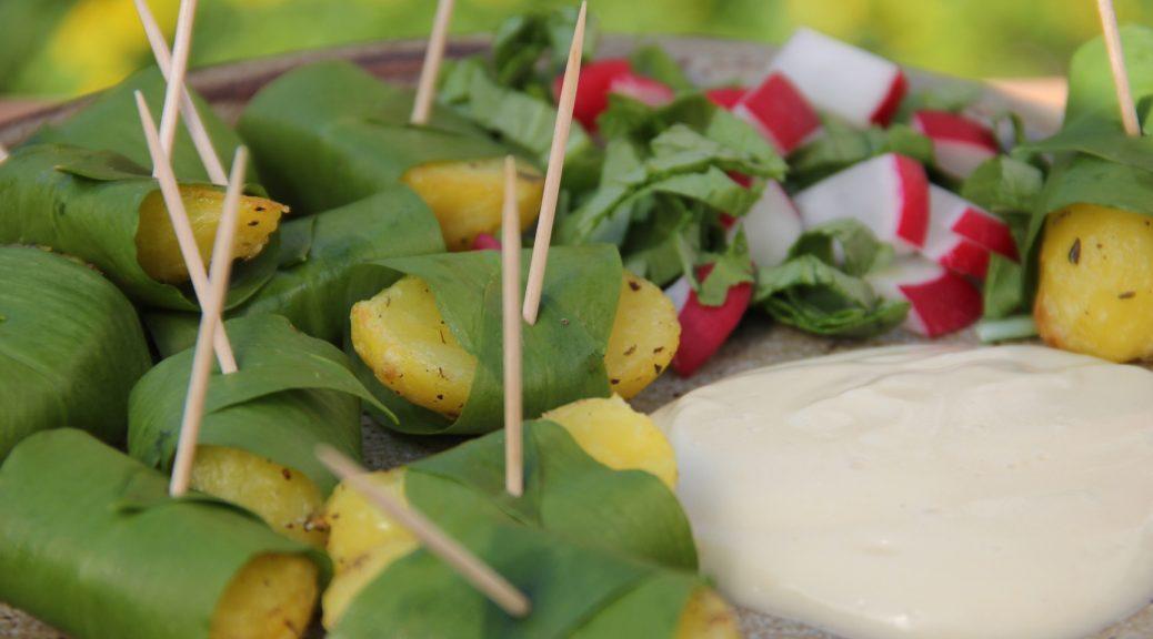 Bärlauchkartoffeln mit Mayo und Radieschen