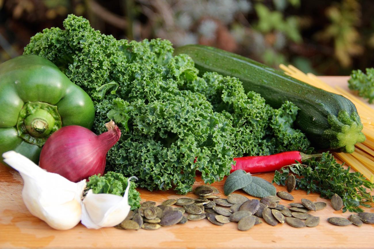 Grünkohl, Zucchini, Paprika, Zwiebeln und Co.