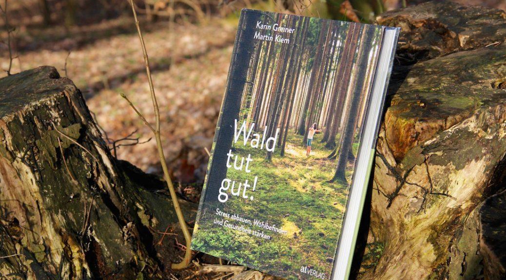 """""""Wald tut gut!"""" von Karin Greiner und Martin Kiem liegt auf einem Baumstumpf"""
