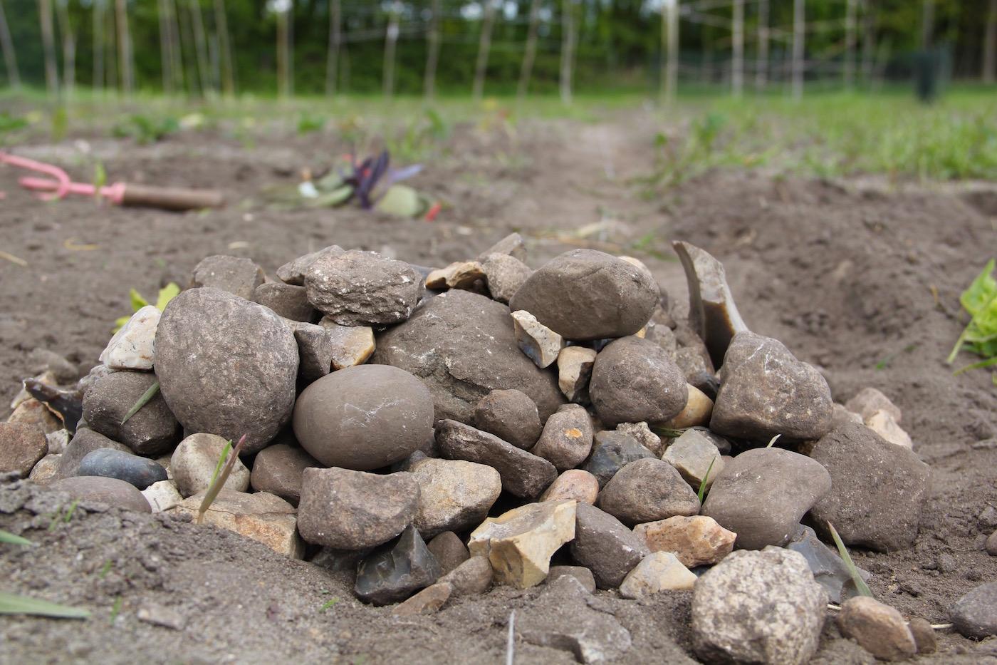 Steinhaufen auf dem Acker