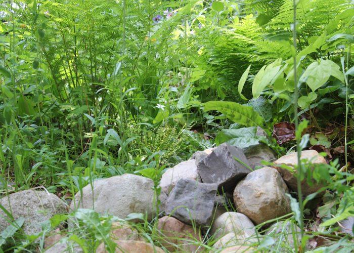 Steine als Beetbegrenzung