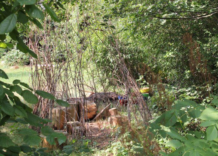 Hütte aus Stöckern